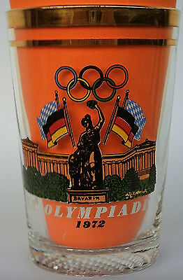 Orig.glass  Olympic Games MÜNCHEN 1972 - Special Edition B  !!  VERY RARE