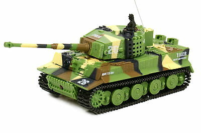 Ferngesteuerter RC Mini Panzer Tiger I mit Sound M1:72 Camouflage Tank s. Video