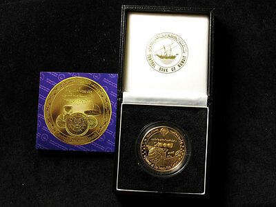 Kuwait 22ct Gold Proof Coin 2000 - Advent of the 21st Century