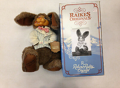 1988 ROBERT RAIKES ORIGINALS LIMITED EDITION WITH COA ANDREW STUFFED RABBIT