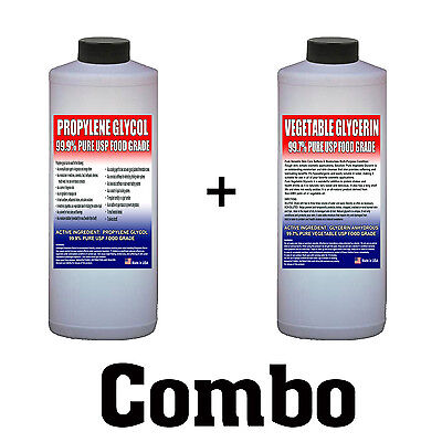 Propylene Glycol & Vegetable Glycerin Combo, 99.7% Pure Food Grade USP VG PG