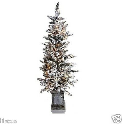 Colin Cowie 4ft Flocked White Artificial Pre-Lit Tree with Base - Used