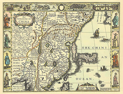 China old map Replica John Speed c.1626  Gicleé Printed Copy  UNIQUE Gift Idea!