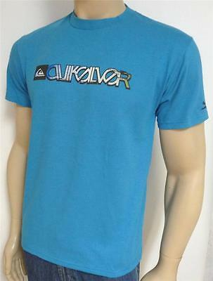 Quiksilver Erosion Graphic Tee Mens Regular Fit Blue 100% Cotton T-Shirt NEW NWT