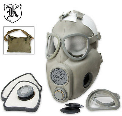 Czech M10 Unissued Military Adult Gas Mask w/Bag & New Sealed Filter -Never Worn