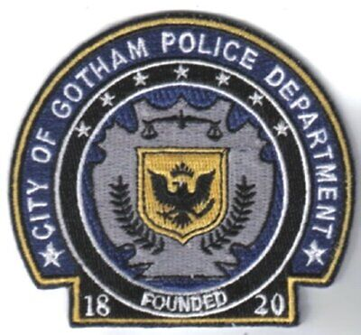 Batman The Dark Knight Movie Gotham Police Logo Embroidered Patch, NEW UNUSED