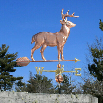 "Copper   "" Large Standing Deer "" Weathervane  Made In Usa #165"