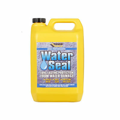 Everbuild 402 Waterseal 5Ltr Water Seal Repellent Transparent Solvent Free