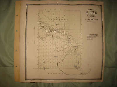Antique 1865 Fine Scriba Sarahsburgh St Lawrence County Handcolored Map Rare Nr
