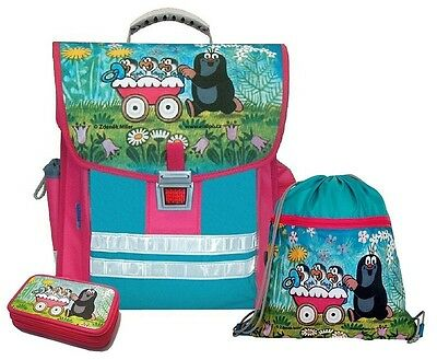 Krtek - Little Mole - Maulwurf 3-part SCHOOL SET backpack+pencil case+sports bag