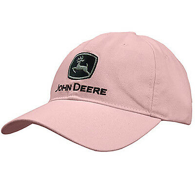JOHN DEERE *PINK HEAVY WASHED CANVAS* Trademark Logo HAT CAP *BRAND NEW*