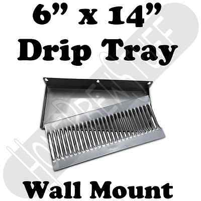 "6""x14"" Stainless Steel Wall Mount Drip Tray Draft Beer Kegerator Taps Homebrew"