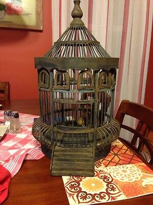 Victorian Wooden Bird Cage Vintage, Beautiful Design