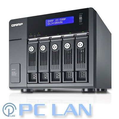 "QNAP UX-500P 5 Bay 3.5""/2.5"" SATA Hotswap RAID Expansion Unit - Diskless"