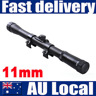 Brand New 3-9x40E AOE Waterproof Red & Green Crosshair Rifle Scope Sight 11 20mm