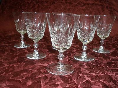 Stunning Crystal Stemmed Glasses X 6  Patterned