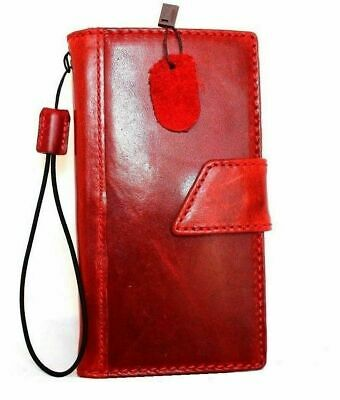 genuine real leather Case for apple iphone 6 plus book wallet slim cover red s6