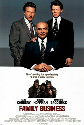 comedy FAMILY BUSINESS vintage movie poster HOFFMAN CONNERY BRODERICK 24X36