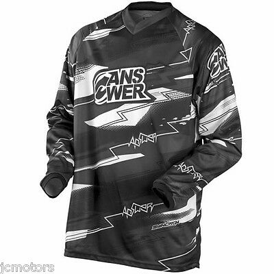 Answer Syncron Jersey - Black - Large Motocross Off Road Riding Racing 451159