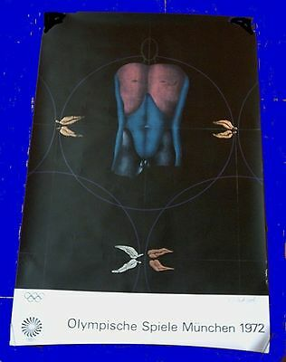Orig.poster   Olympic Games MÜNCHEN 1972 // Special Edition - 64 x 100 cm ! RARE