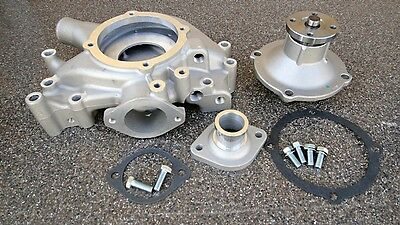 Bb Mopar/dodge/chrysler 350-440 Aluminum Water Pump+Housing +Inlet Complete Set