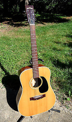 Guitare Folk Vintage Grand Suzuki Kansas W-180 Made In Japan