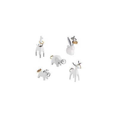 Umbra ANIGRAM RING HOLDER choice of bunny,elephant,giraffe,reindeer white/silver