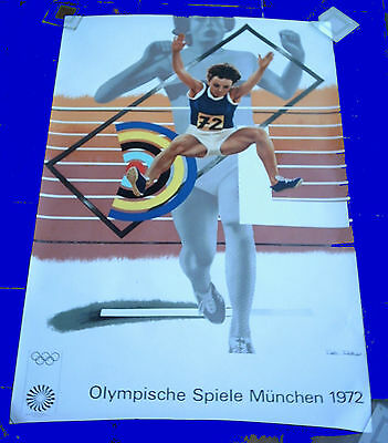 Orig.poster   Olympic Games MÜNCHEN 1972 / 64x100 cm / Special Edt.  !!  RARE