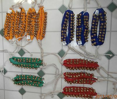 3 row Indian dance ETHNIC ANKLE BELLS  ( ghungroo )- Belly dance, Tribal, Gypsy