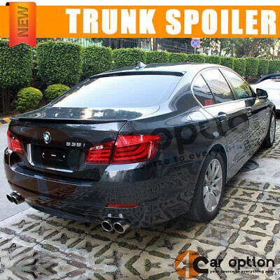 Fit 11-16 BMW F10 5-Series 4Dr PERFORMANCE Style Trunk Spoiler Wing ABS