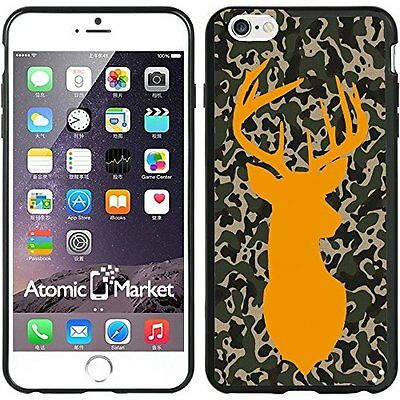 Camo Deer Shilouette Orange For Iphone 6 Plus 5.5 Inch Case Cover