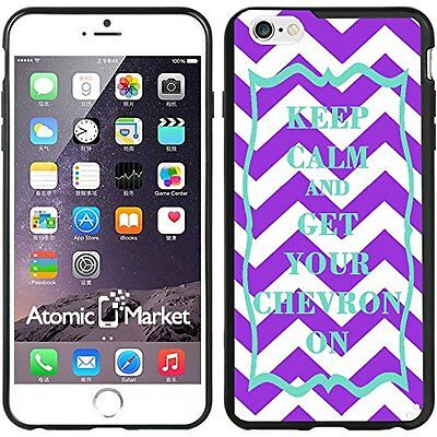 Purple & Turquoise Keep Calm and Get Your Chevron On For Iphone 6 Plus 5.5 Inch