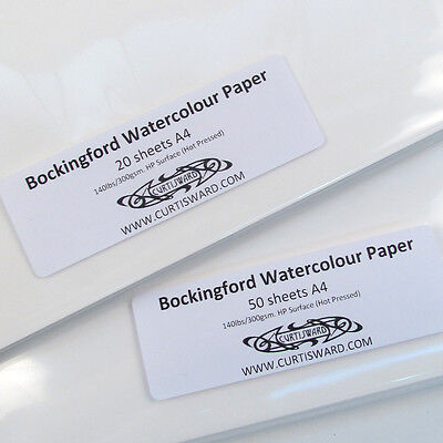 Bockingford HOT PRESSED 300g A4 Artists WaterColour Paper Sheet Packs.Curtisward