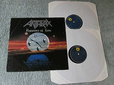 ANTHRAX persistence of time GERMAN ISLAND 2LPs 304050!