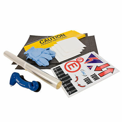 JJC Safety Kit Spill Stickers Race/Rally/Motorsport Window Film Harness Tool