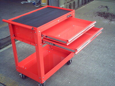 76 US PRO TOOLS TOOL CART TROLLEY WORKSTATION BOX RED