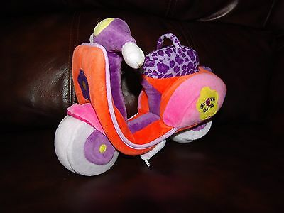 Groovy Girls Orange and Purple Scooter Plush Doll 9""