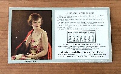 1929 OAKLAND Automobile Service Co. -- THE SOCIETY GIRL  -- Seventh & Clay