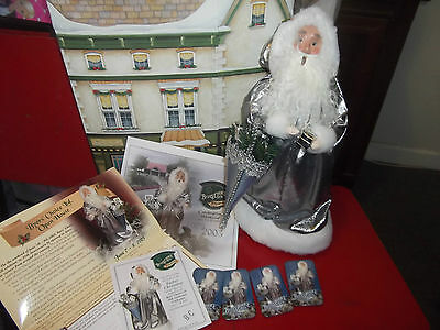 2003 Byers' Choice Silver Father Christmas Santa Signed 25th ANNIVERSARY