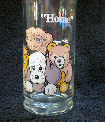 Vintage Pizza Hut Advertising 1982 E.T. Extra Terrestrial Glass Tumbler