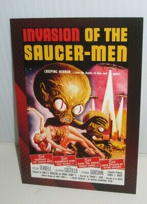 BREYGENT HORROR  SCI FI MOVIE POSTER TRADING CARD INVASION OF THE SAUCER MEN