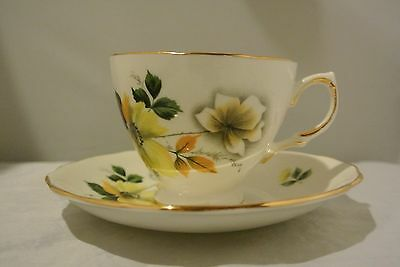 Royal Vale Cup & Saucer with Flowers Made in England from RIDGWAY POTTERIES LTD