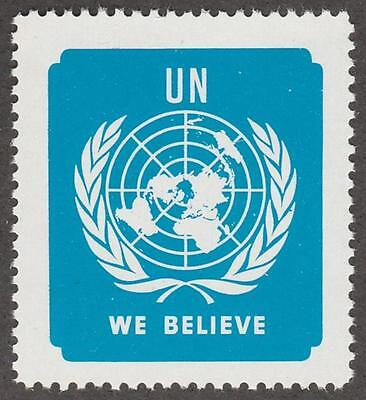 United Nations We Believe Poster Stamp