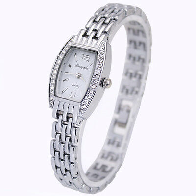 White Fashion Women Ladies Girl Gift Crystal Diamond Analog Quartz Wrist Watches