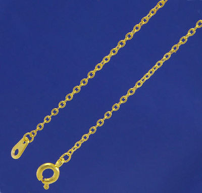 """10 x 18"""" Gold Plated Fine Trace chains     W2049h"""