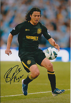Roger ESPINOZA SIGNED Autograph 12x8 Photo AFTAL COA WIGAN FA Cup WINNER