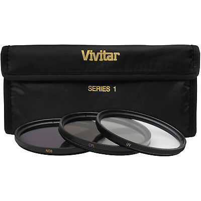 Vivitar 46mm 3-Piece Multi-Coated HD UV / CPL / ND8 Filter Set 46 mm