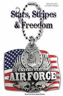 US AIR FORCE CAR CHARM for REAR VIEW MIRROR - USA FLAG PATRIOTIC MILITARY GIFT