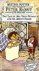 The Tale of Mrs. Tiggy-Winkle & Mr. Jeremy Fisher VHS CLAMSHELL  Beatrix Potter