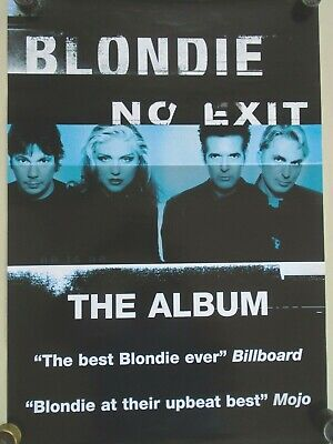 "Blondie / Orig.Promo poster ""No Exit"" - Exc.+ New condition"
